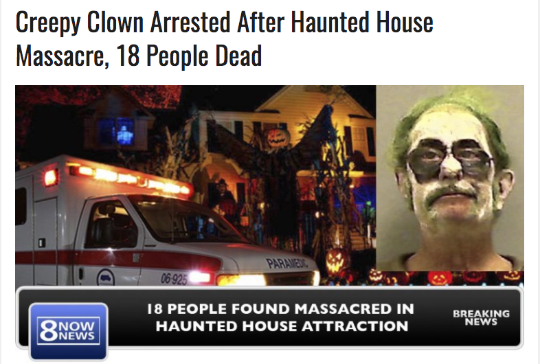 Creepy Clown Arrested