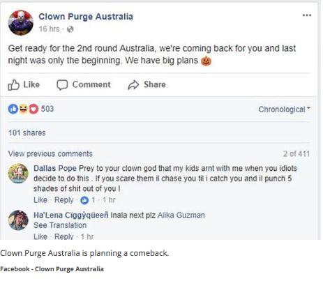 creepy clown purge