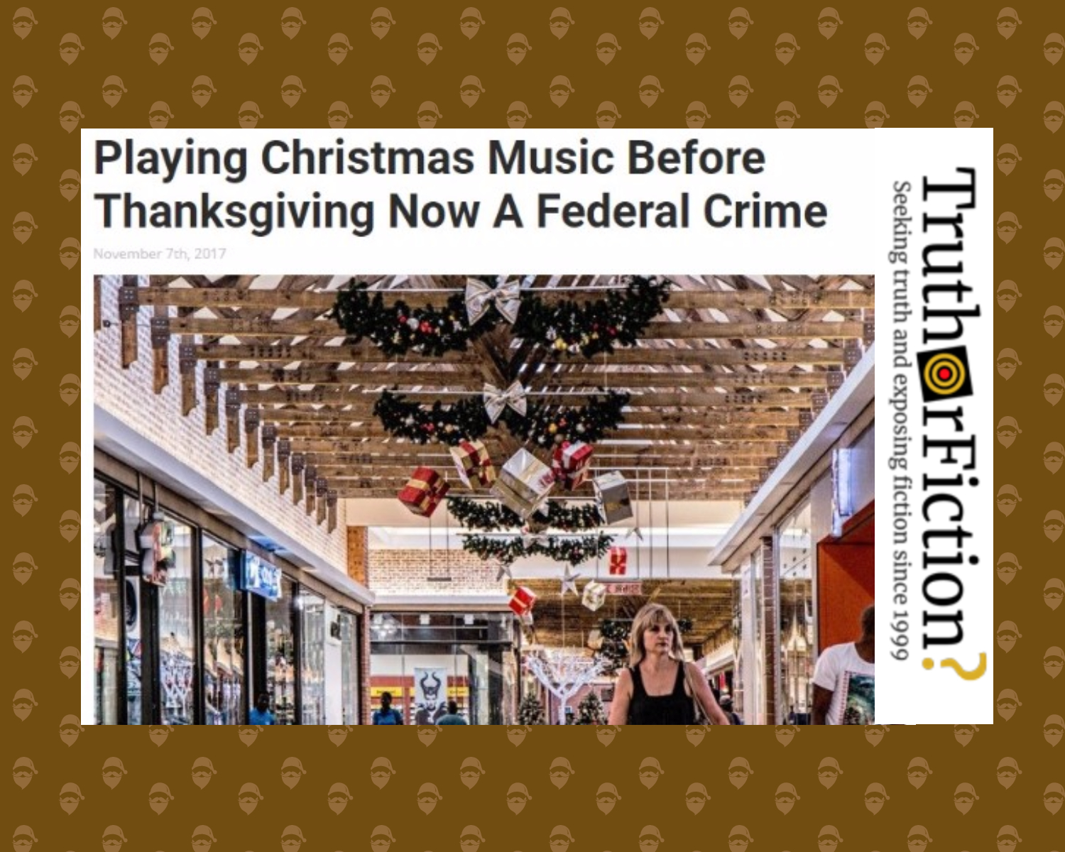 Playing Christmas Music Before Thanksgiving Is a Federal Crime?