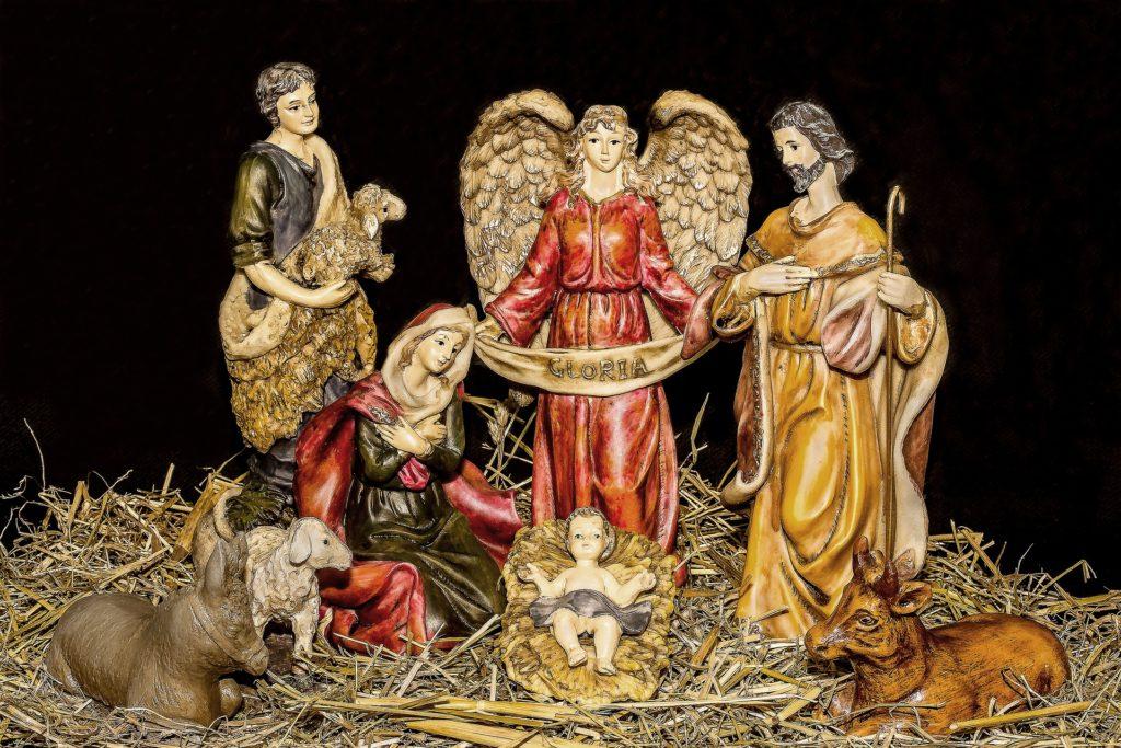 Model nativity scene.