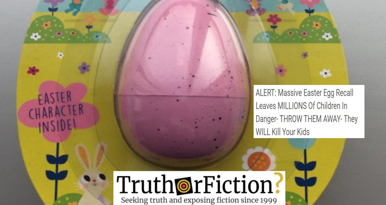 'ALERT: Massive Easter Egg Recall Leaves MILLIONS Of Children In Danger'