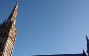 Salisbury Cathedral spire.