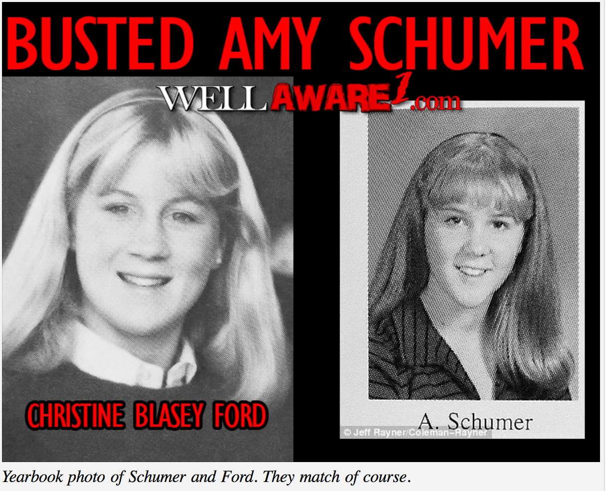 The 'Amy Schumer Is Actually Christine Blasey Ford' Conspiracy Theory