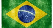 "Brazil flag in ""grunge"" style."