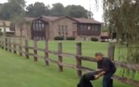 "Screenshot of the ""Bucket Bear rescue"" video."