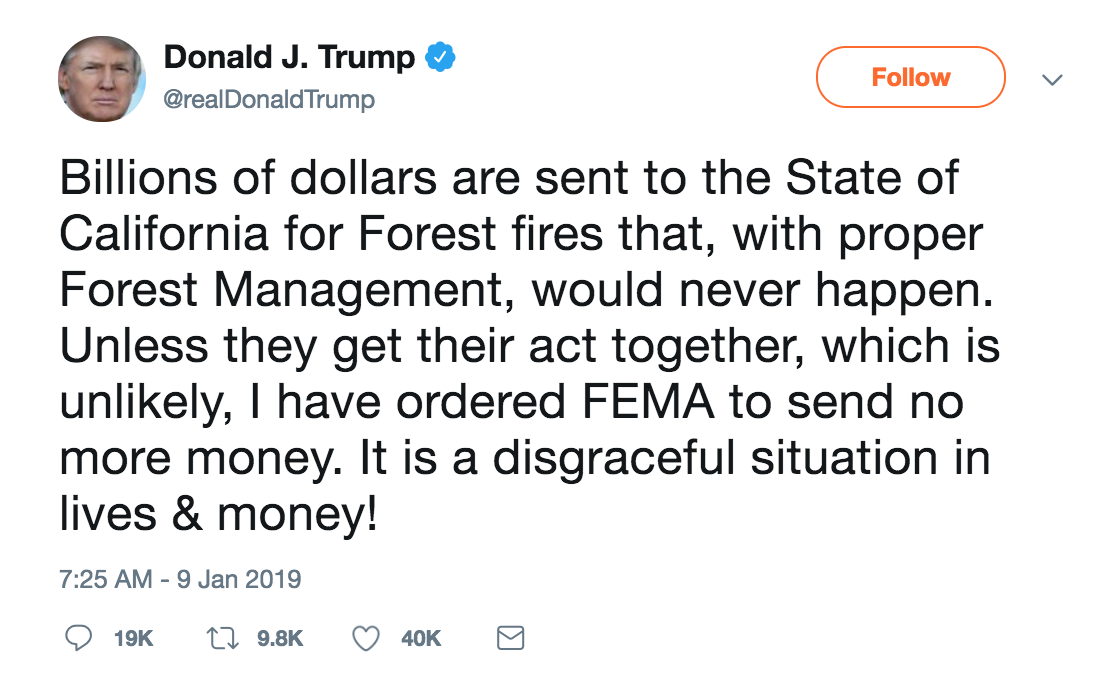 Another Trump tweet.