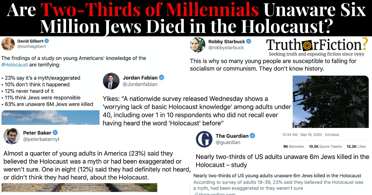 Do Two-Thirds of Millennials Not Know What Auschwitz Is?