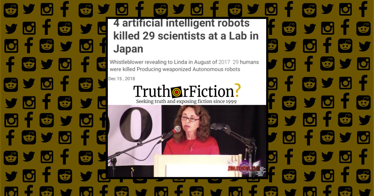 Did Four Artificially Intelligent Robots Kill 29 Humans In A Japan