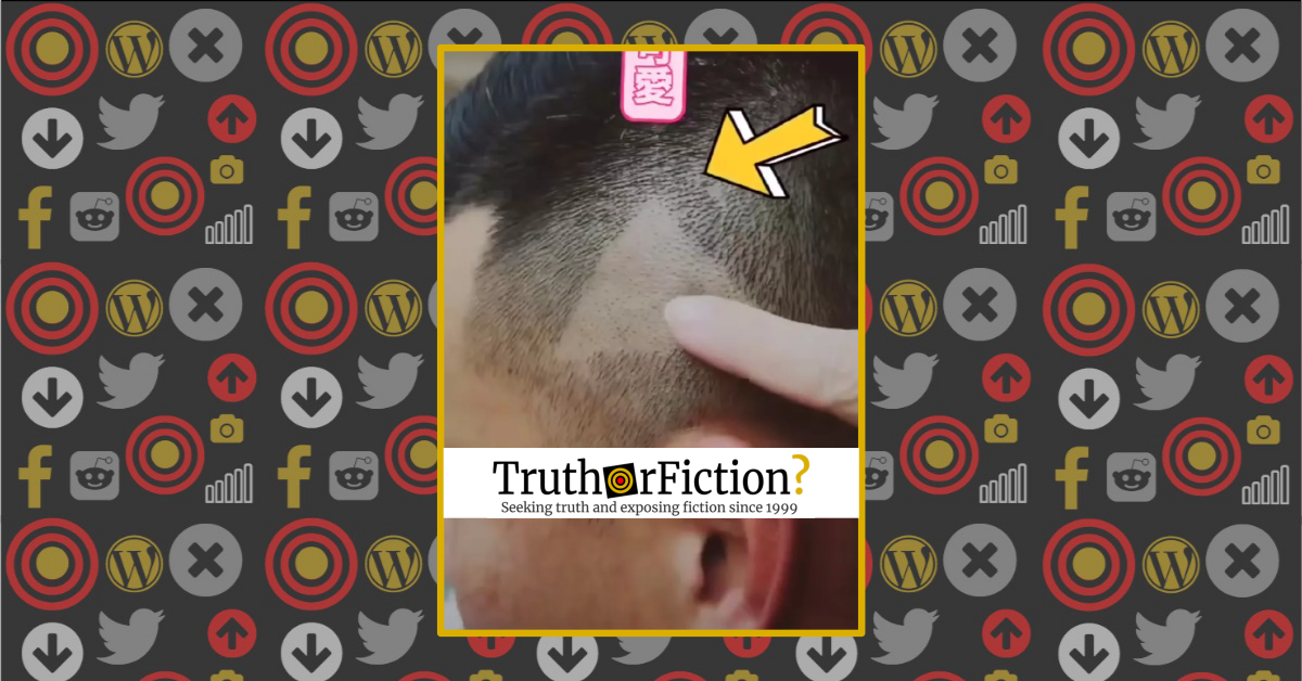Did a Barber Mistakenly Shave a 'Play' Button on a Client's Head Because of a Paused Video?