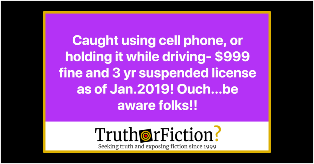 Can You Now Be Fined $999 for Holding a Phone in Your Car