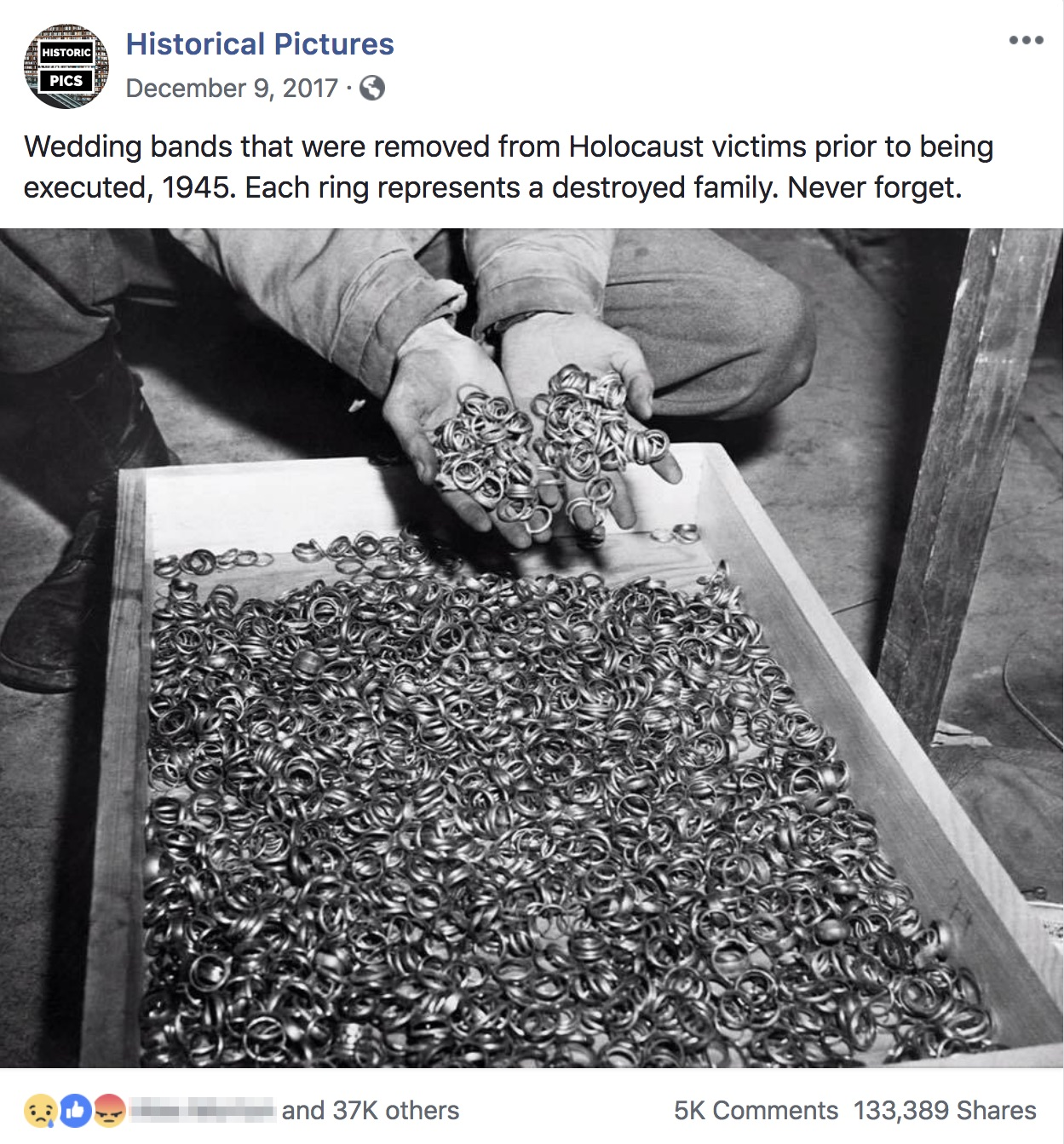 Is This A Photograph Of Wedding Bands Removed By Nazis In