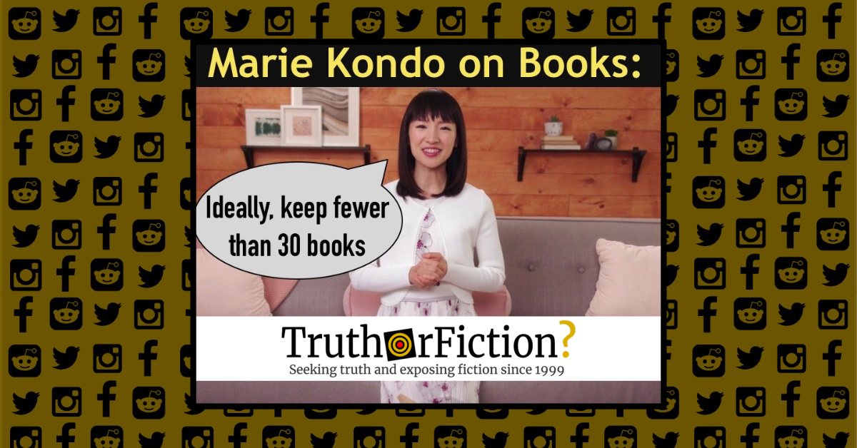 Did Marie Kondo Tell People They Could Only Keep Thirty Books at a Time?