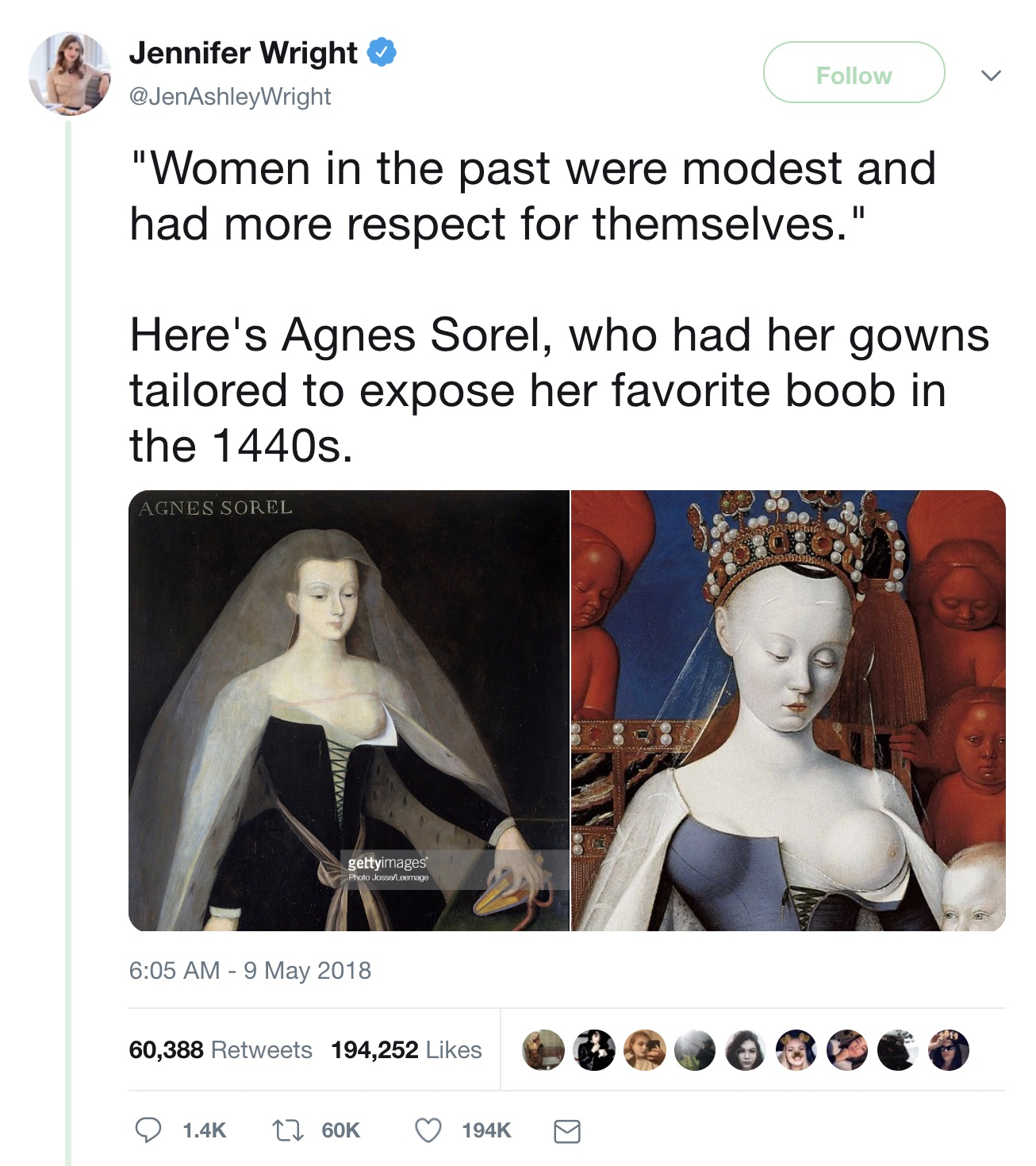 Jennifer_Wright_on_Twitter____Women_in_the_past_were_modest_and_had_more_respect_for_themselves___Here_s_Agnes_Sorel__who_had_her_gowns_tailored_to_expose_her_favorite_boob_in_the_1440s