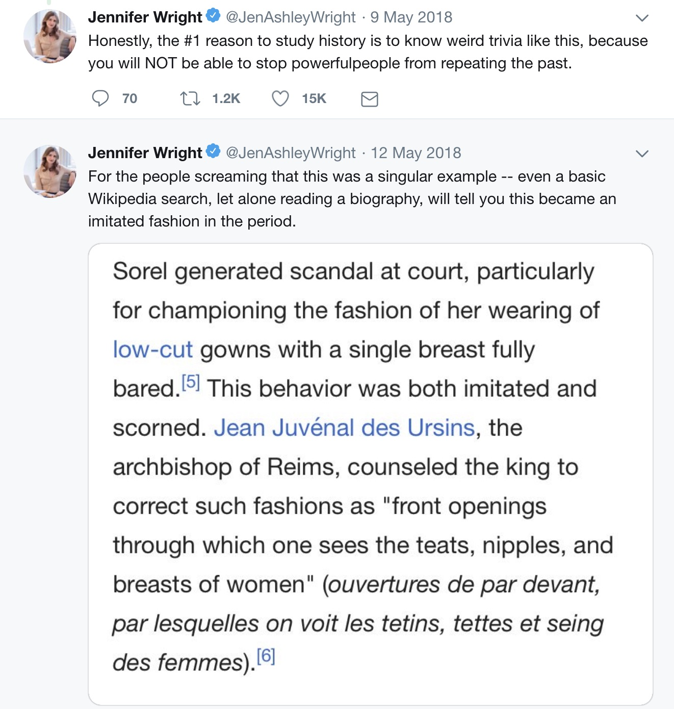 Jennifer_Wright_on_Twitter____Women_in_the_past_were_modest_and_had_more_respect_for_themselves___Here_s_Agnes_Sorel__who_had_her_gowns_tailored_to_expose_her_favorite_boob_in_the_1440-s