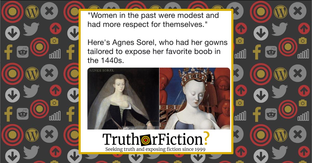 Do Portraits Depict Agnès Sorel in the 1400s Exposing Her 'Favorite Boob'?
