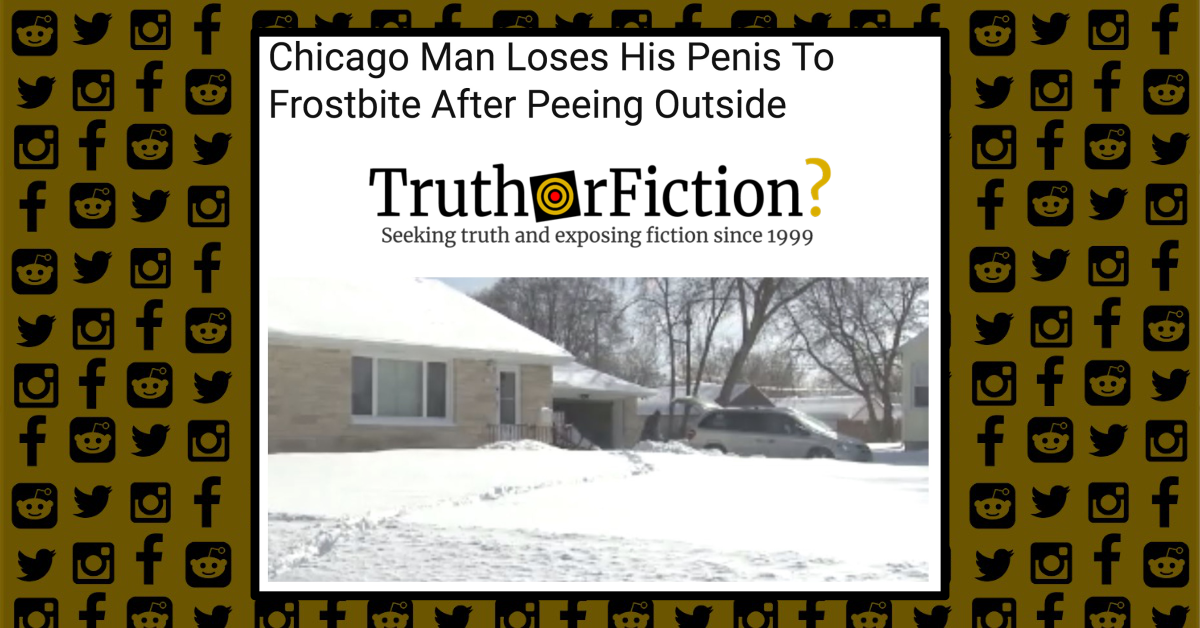 Did a Man Lose His Penis to Frostbite After Urinating Outside During a Cold Snap?
