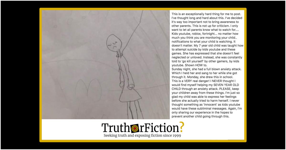 Violent, Disturbing Messages in Childrens' Videos?