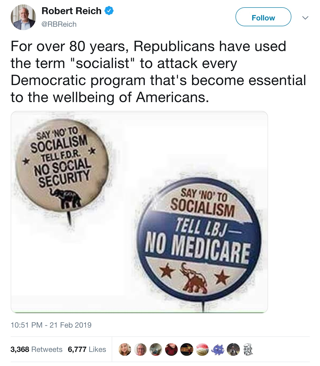 Robert_Reich_on_Twitter___For_over_80_years__Republicans_have_used_the_term__socialist__to_attack_every_Democratic_program_that_s_become_essential_to_the_wellbeing_of_Americans