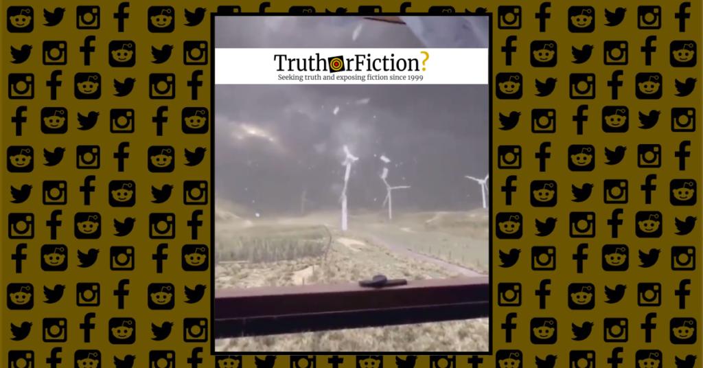 Bit Windy Today' Wind Turbine Failure Video - Truth or Fiction?