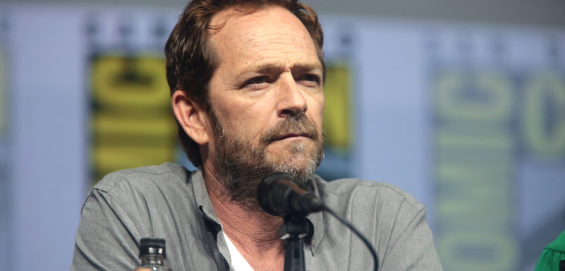 "Luke Perry speaking at the 2018 San Diego Comic Con International, for ""Riverdale"", at the San Diego Convention Center in San Diego, California."