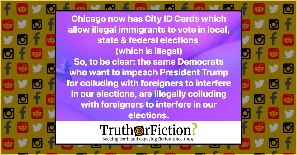 Do New Chicago City ID Cards Allow Undocumented Immigrants to Vote?