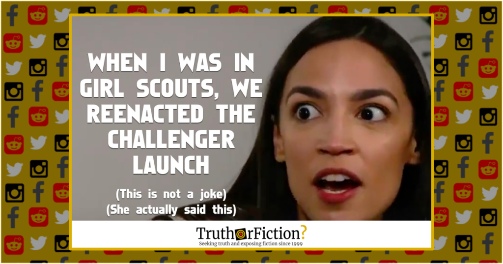 Did Alexandria Ocasio-Cortez Say Her Girl Scout Troop ...