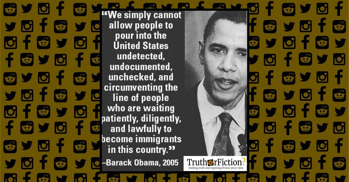 2005 Obama Immigration Quote