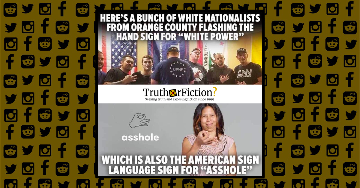 Is the 'OK' Hand Sign Also American Sign Language for 'Asshole'?