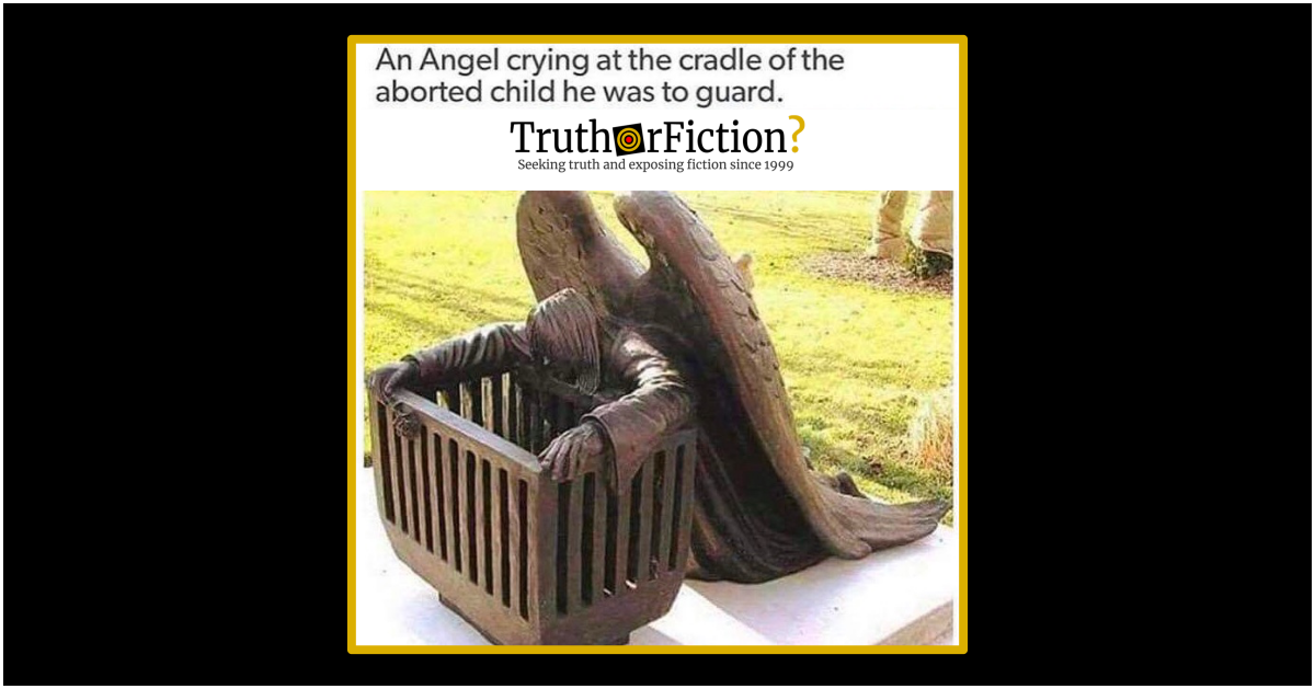 Guardian Angel Crying at the Cradle of an Aborted Fetus?