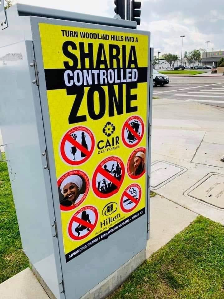 woodland hills sharia posters