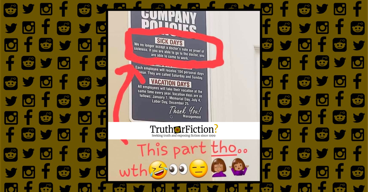 'Company Policies' Poster