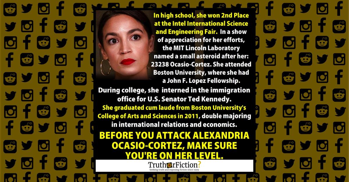 Alexandria Ocasio-Cortez Facts Meme