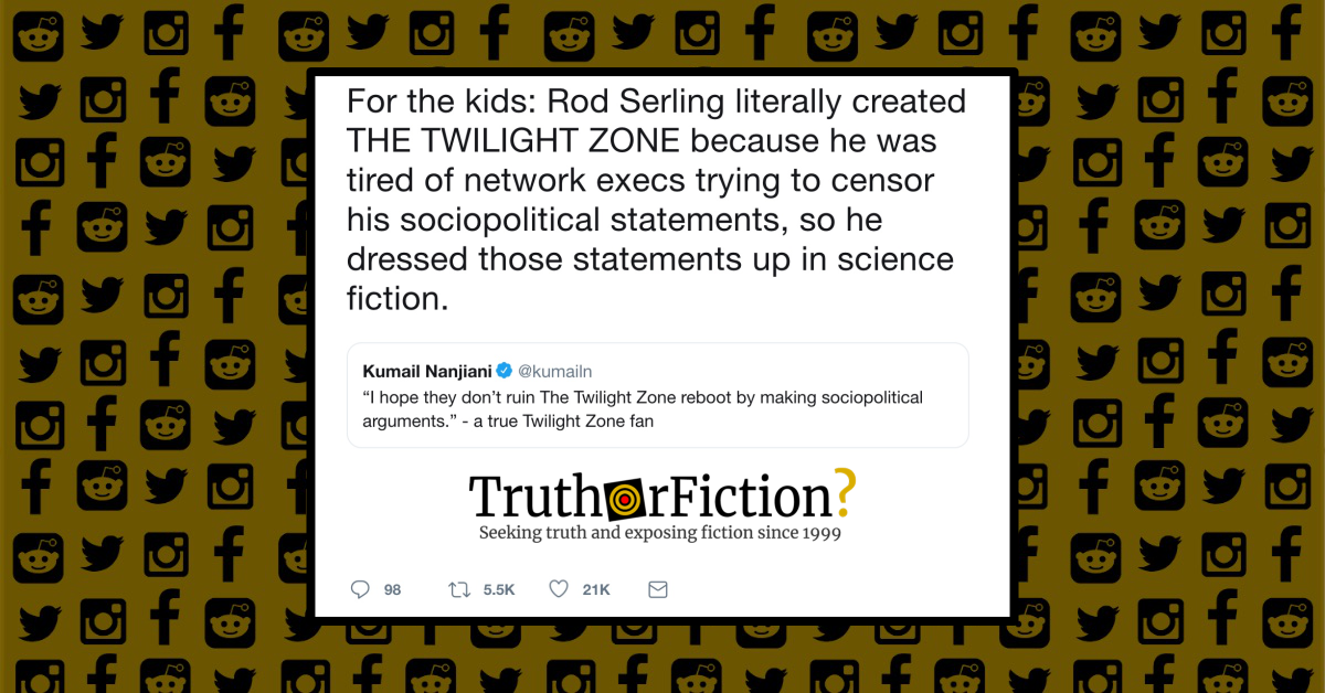 Did Rod Serling's 'Twilight Zone' Use Sci-Fi to Push Politics Past Network Censors?