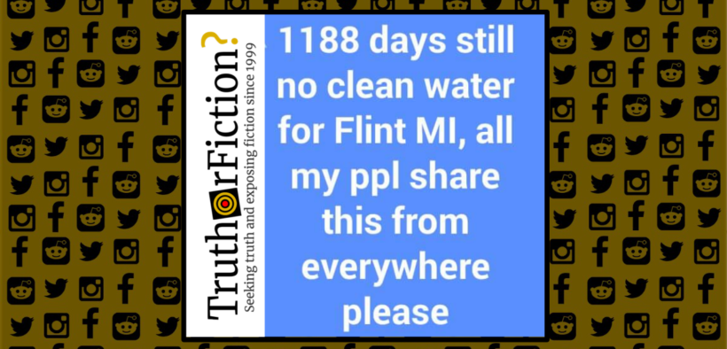 Whatever the statists touch, turns to shit: Flint, Michigan still does not have clean water 1188_days_no_clean_water_flint-820x394