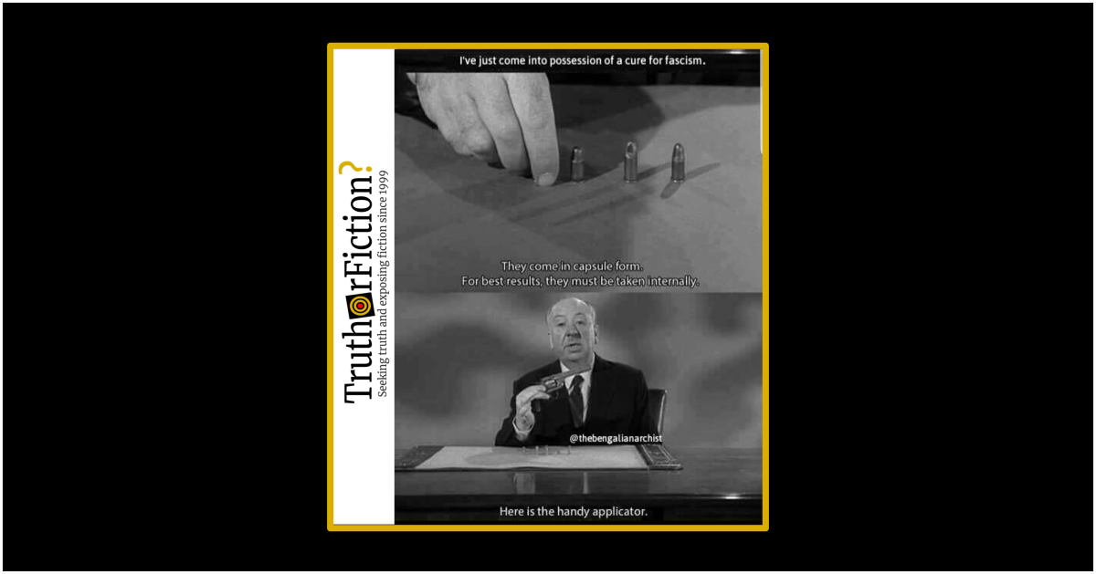 Alfred Hitchcock: 'A Cure for Fascism'?