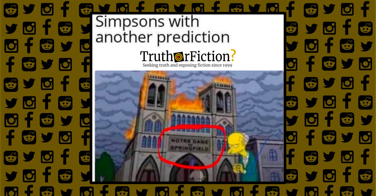 Did 'The Simpsons' Predict the Notre Dame Fire?