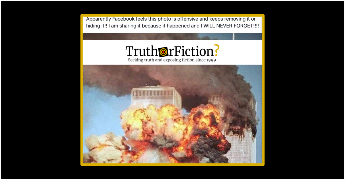 Does Facebook Deem Images of 9/11 Offensive and Prohibit Them?