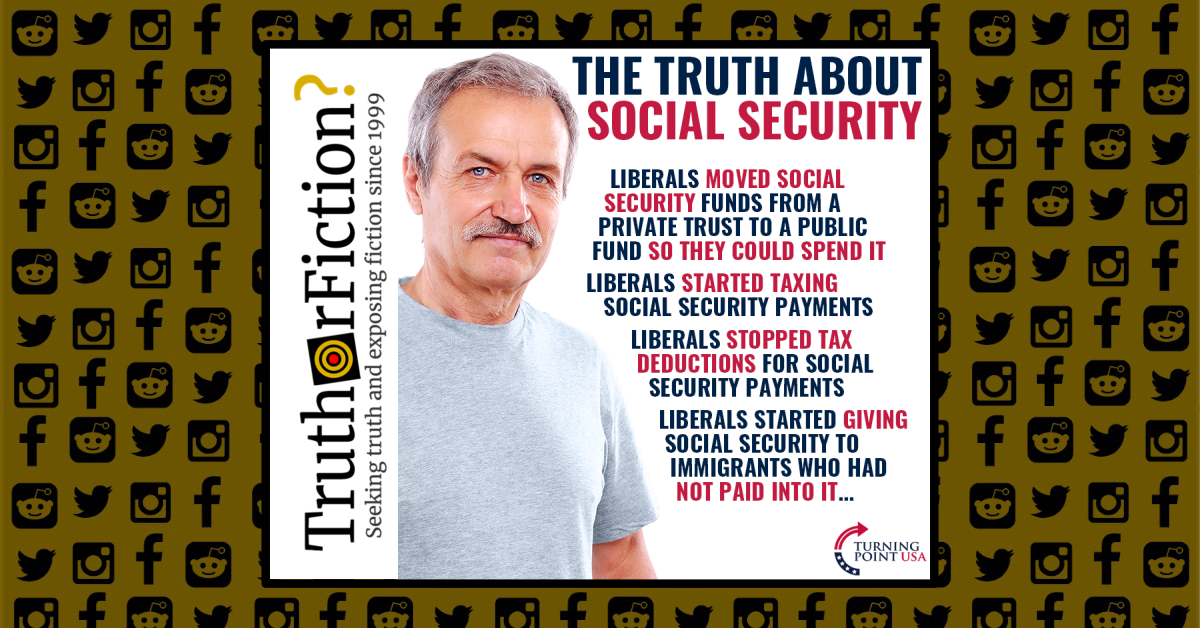 Turning Point USA's 'Truth About Social Security' Meme