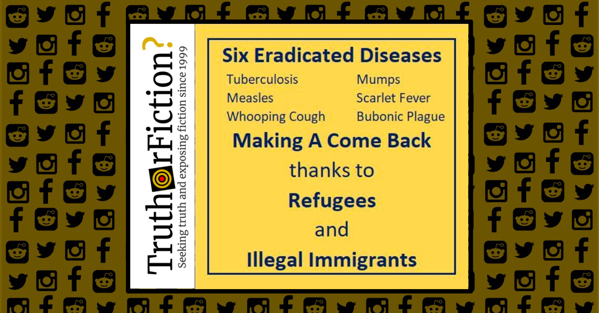 Are Eradicated Diseases Making a Comeback Because of Immigrants and Refugees?