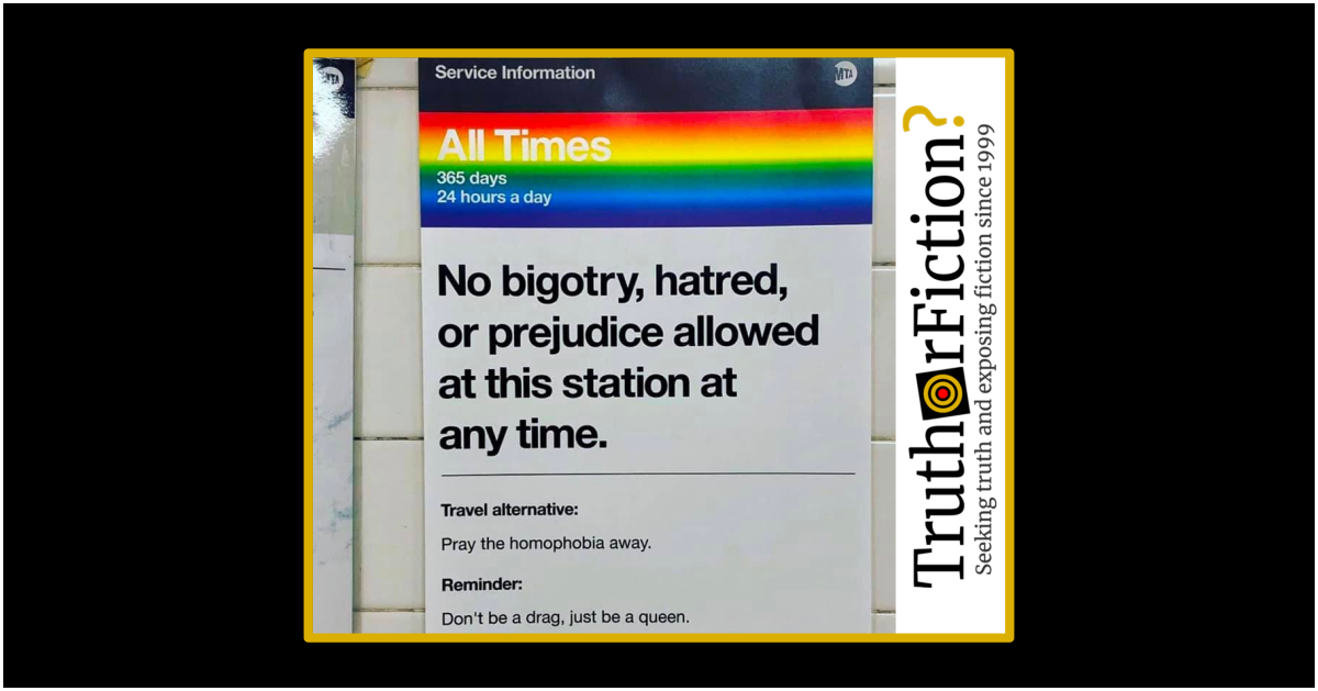 Is the MTA Posting Pride Signs on the NYC Subway?
