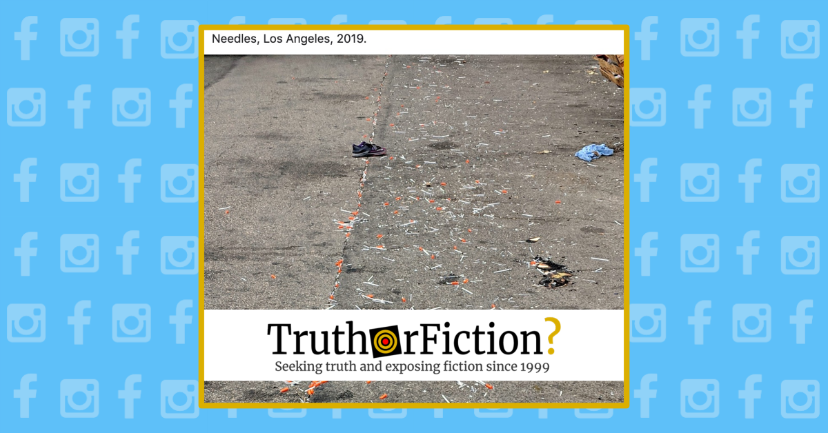 Are the Streets of Los Angeles Littered with Syringes?