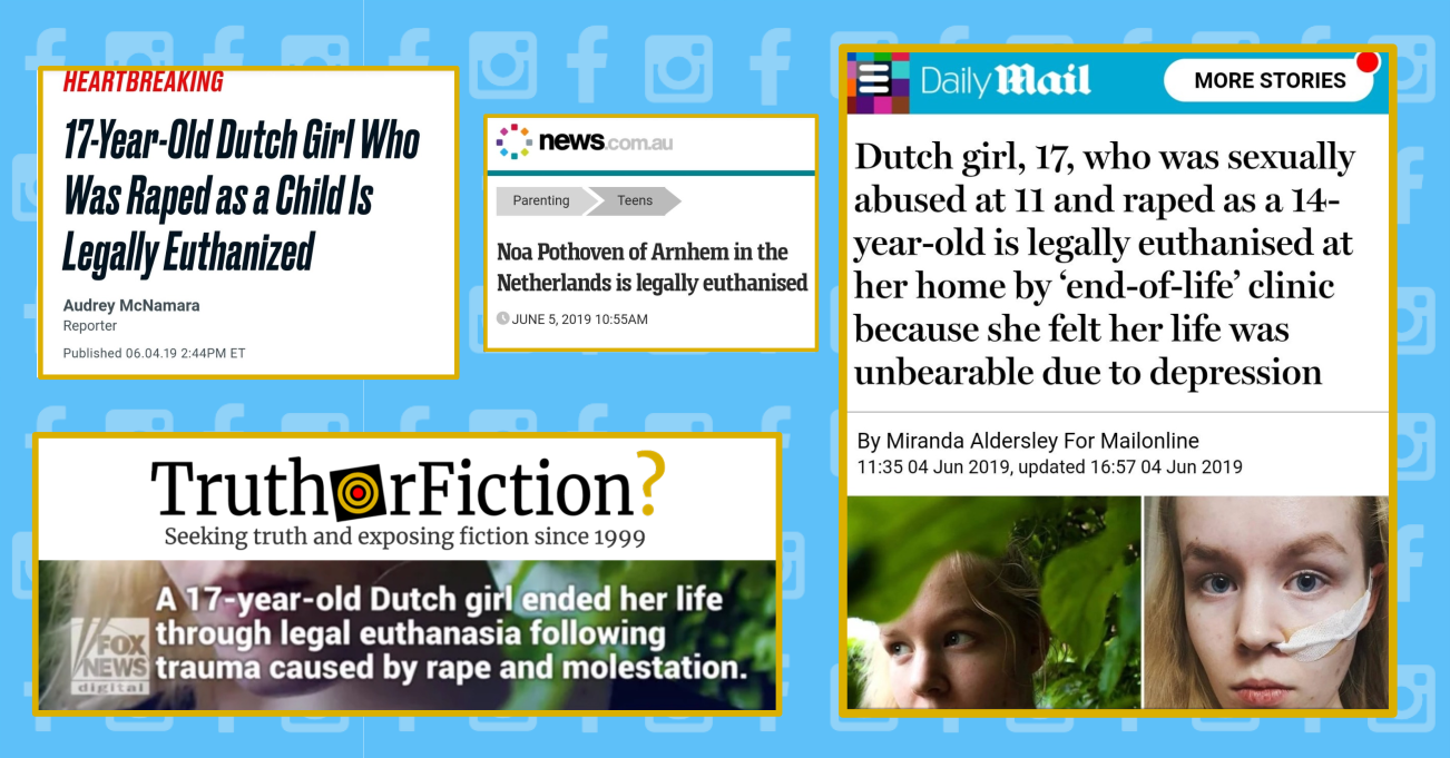 Was a Dutch Teenager Euthanized Because of Rape Trauma?