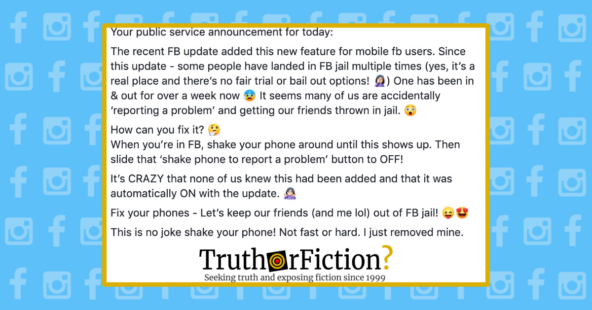 Can Shaking Your Phone Report Posts and Land Your Friends in