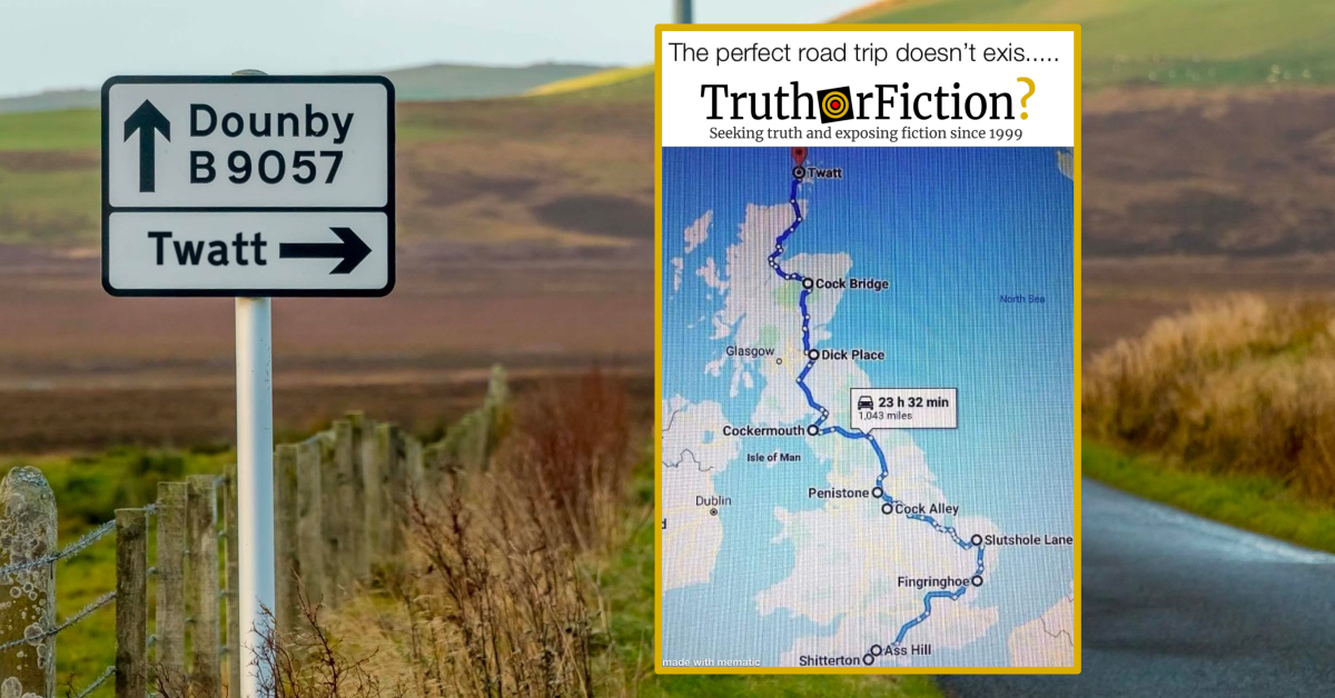 Is a 'Perfect Road Trip' of Obscenely-Named Towns Real?