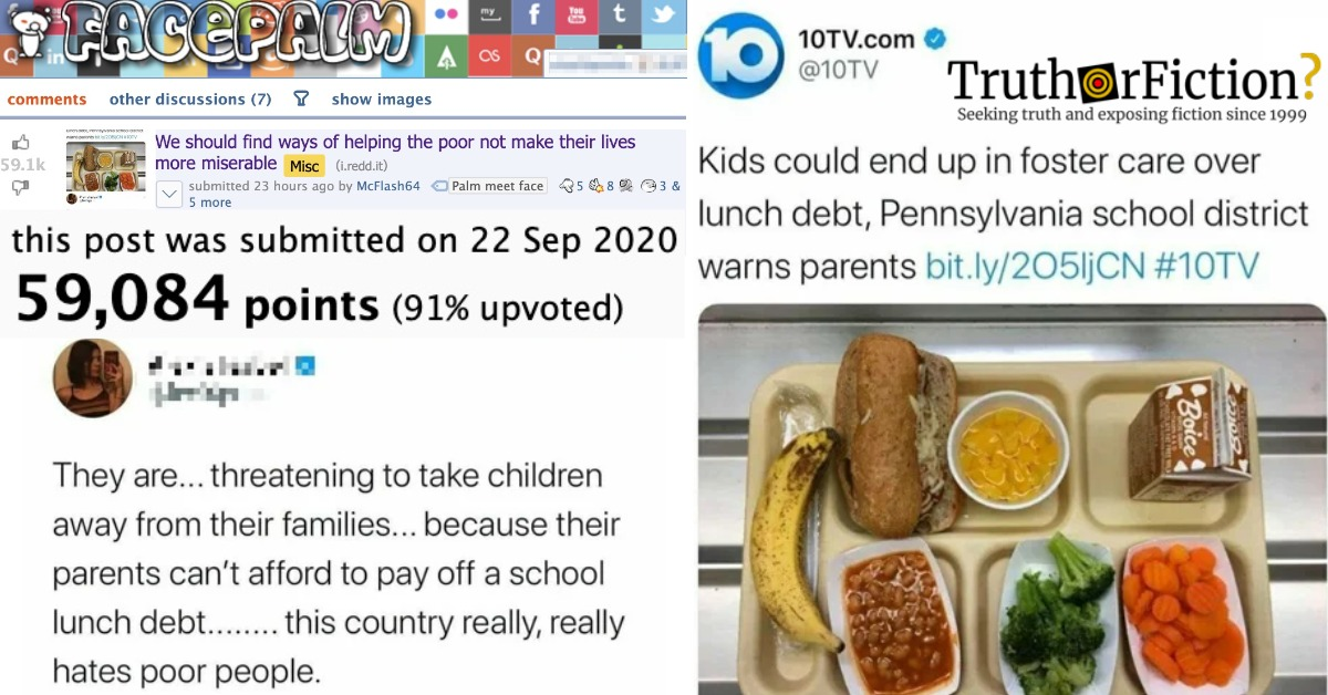 Luzerne County, Pennsylvania 'School Lunch Debt' Controversy