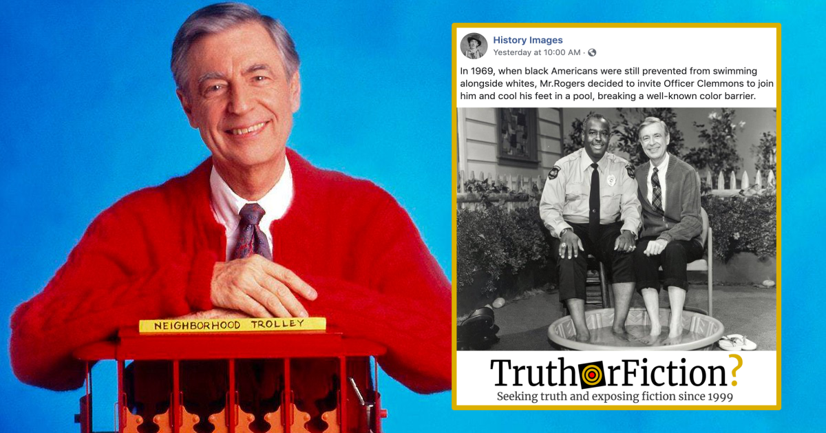 Did Mr Rogers Challenge Pool Segregation With A Black Police Officer In 1969 Truth Or Fiction