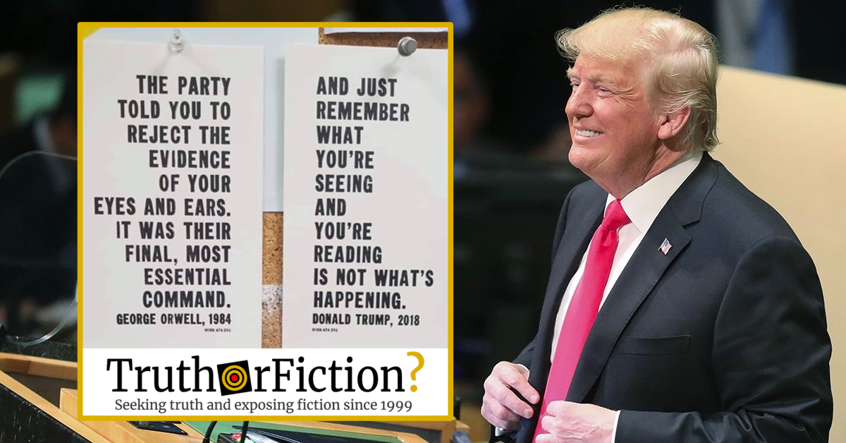 Did U.S. President Donald Trump Say 'What You're Seeing' Is 'Not What's Happening'?