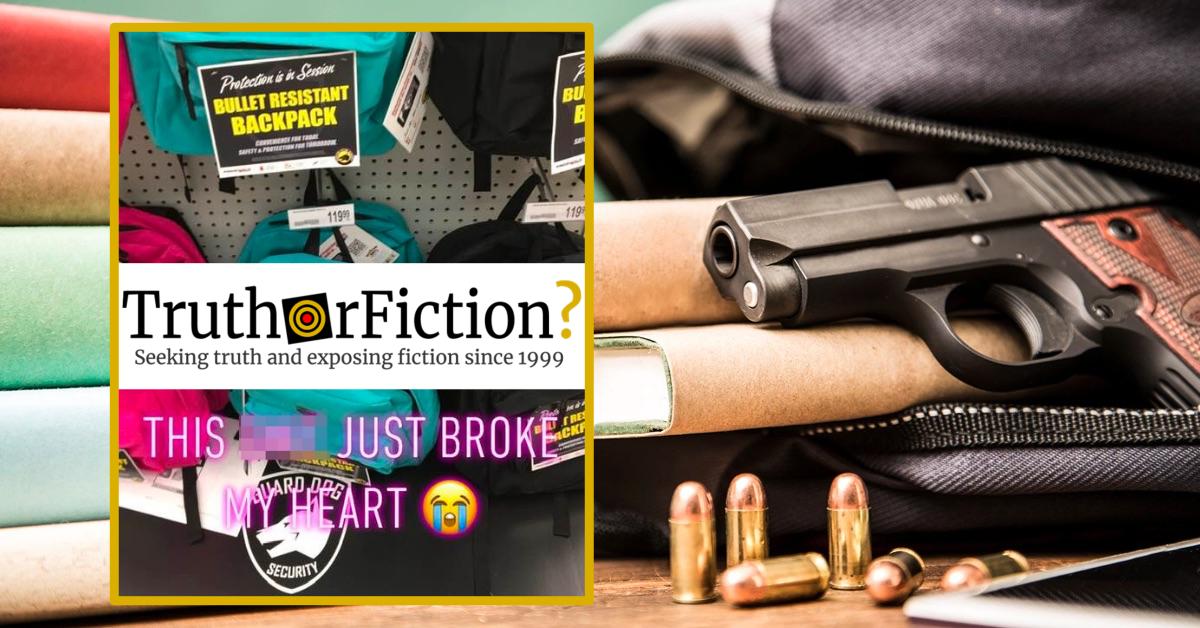 Is OfficeMax Selling Bullet-Resistant Backpacks?