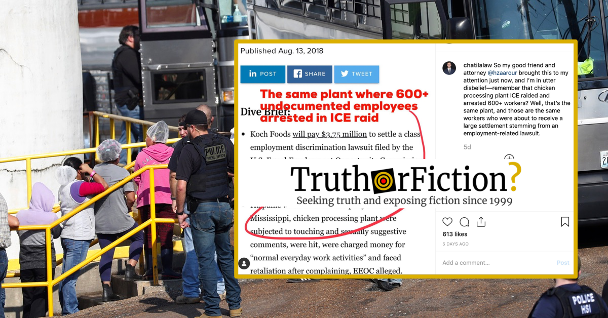 Was the Mississippi Chicken Plant Raided by American Immigration Authorities Previously Sued for Workplace Abuses?