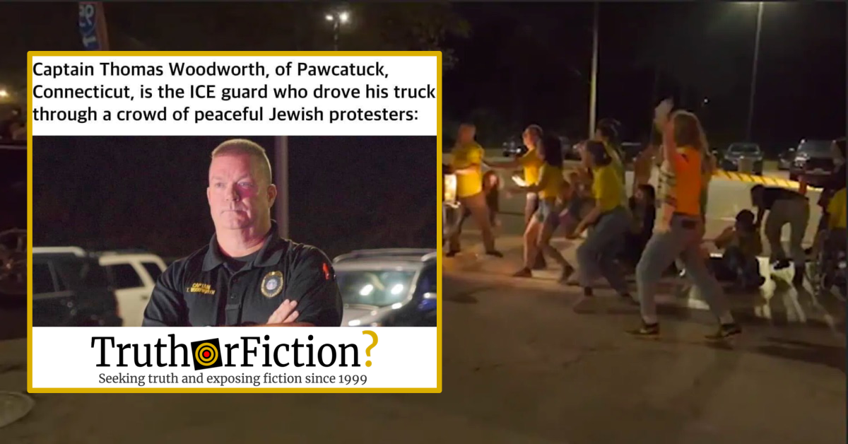 Were Protesters of American Immigration Policies Hit by a Truck and Injured in Rhode Island?